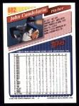 1993 Topps #682  John Candelaria  Back Thumbnail