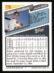1993 Topps #770  Robin Ventura  Back Thumbnail