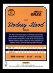 2016 Donruss #53  Rodney Hood  Back Thumbnail