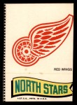 1973 Topps Team Emblem Sticker   Red Wings / North Stars Front Thumbnail