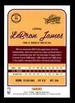 2016 Donruss #15  LeBron James  Back Thumbnail