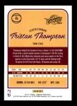 2016 Donruss #19  Tristan Thompson  Back Thumbnail