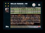 2007 Topps #96  Willie Parker  Back Thumbnail