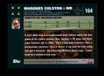 2007 Topps #164  Marques Colston  Back Thumbnail