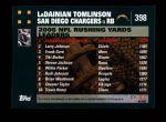2007 Topps #398  LaDainian Tomlinson  Back Thumbnail