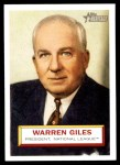 2005 Topps Heritage #2  Warren Giles  Front Thumbnail