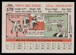 2005 Topps Heritage #179  Tim Redding  Back Thumbnail