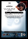2017 Upper Deck #143  Travis Konecny  Back Thumbnail