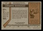 1973 O-Pee-Chee #127  Cesare Maniago  Back Thumbnail