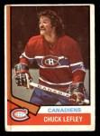 1974 O-Pee-Chee NHL #178  Chuck Lefley  Front Thumbnail