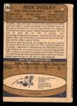 1974 O-Pee-Chee NHL #268  Rick Dudley  Back Thumbnail
