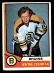 1974 O-Pee-Chee NHL #206  Wayne Cashman  Front Thumbnail