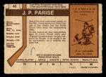 1973 O-Pee-Chee #46  Jean-Paul Parise  Back Thumbnail