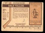 1973 O-Pee-Chee #211  Dale Tallon  Back Thumbnail