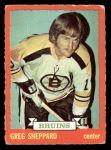 1973 O-Pee-Chee #8  Gregg Sheppard  Front Thumbnail