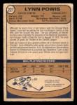 1974 O-Pee-Chee NHL #227  Lynn Powis  Back Thumbnail