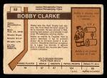 1973 O-Pee-Chee #50  Bobby Clarke  Back Thumbnail