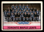 1974 O-Pee-Chee NHL #390   Maple Leafs Team Front Thumbnail