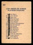 1974 O-Pee-Chee NHL #287   Kings Team Back Thumbnail