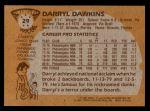 1981 Topps #29  Darryl Dawkins  Back Thumbnail