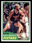 1981 Topps #80 MW Kent Benson  Front Thumbnail