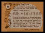 1981 Topps #88 W Kelvin Ransey  Back Thumbnail