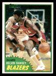 1981 Topps #88 W Kelvin Ransey  Front Thumbnail