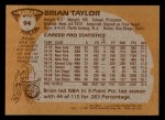 1981 Topps #94 W Brian Taylor  Back Thumbnail