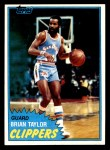 1981 Topps #94 W Brian Taylor  Front Thumbnail