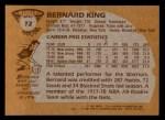 1981 Topps #72 W Bernard King  Back Thumbnail