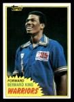 1981 Topps #72 W Bernard King  Front Thumbnail