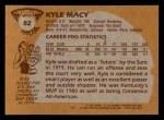 1981 Topps #82 W Kyle Macy  Back Thumbnail
