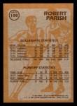 1981 Topps #108 E  -  Robert Parish Super Action Back Thumbnail
