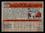 1957 Topps #199  Vern Law  Back Thumbnail
