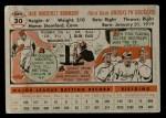 1956 Topps #30  Jackie Robinson  Back Thumbnail