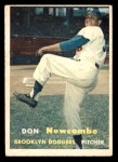 1957 Topps #130  Don Newcombe  Front Thumbnail