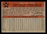 1958 Topps #479   -  Nellie Fox All-Star Back Thumbnail