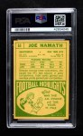 1968 Topps #65  Joe Namath  Back Thumbnail