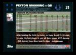 2007 Topps #21  Peyton Manning  Back Thumbnail