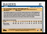 2019 Topps #311 A Jake Bauers   Back Thumbnail