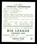 1938 Goudey Heads-Up Reprint #265  Charley Gehringer  Back Thumbnail