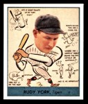 1938 Goudey Heads-Up Reprint #284  Rudy York  Front Thumbnail