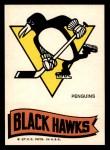 1973 Topps Team Emblem Sticker   Penguins / Blackhawks Front Thumbnail