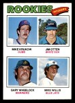 1977 Topps #493   -  Mike Krukow / Jim Otten / Gary Wheelock / Mike Willis Rookie Pitchers   Front Thumbnail