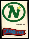 1973 Topps Team Emblem Sticker   North Stars / Canadiens Front Thumbnail