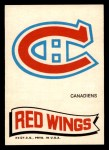 1973 Topps Team Emblem Sticker   Canadiens / Red Wings Front Thumbnail