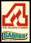 1973 Topps Team Emblem Sticker   Flames / Sabres Front Thumbnail