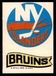 1973 Topps Team Emblem Sticker   Islanders / Bruins Front Thumbnail