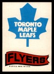 1973 Topps Team Emblem Sticker   Maple Leafs / Flyers Front Thumbnail