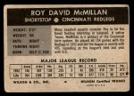 1954 Wilson Franks  Roy McMillan  Back Thumbnail
